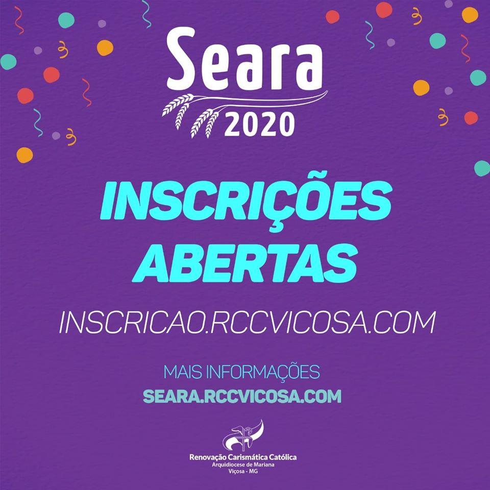 Inscrições Abertas para o Seara 2020